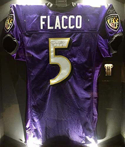 Image Unavailable. Image not available for. Color  Signed Joe Flacco Jersey  ... 8d3549252