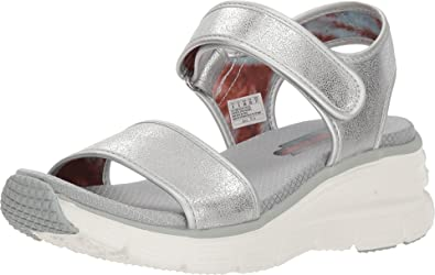 698488d20d0f7 Skechers Women's Wedge Appeal - Brush-Off Silver 11 B(M) US: Buy ...