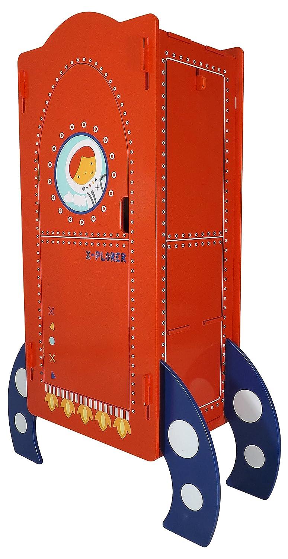 Kidsaw Ltd, Explorer Mini Robe, Legno, Rosso, 38x 88x 120cm 38x 88x 120cm EXMR