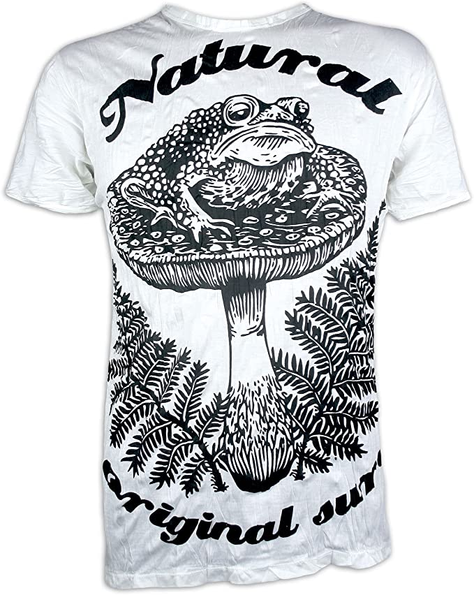 Sure Camiseta Hombre Sapo Psicodélico Arte Cáñamo Hippie