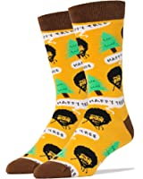 Oooh Yeah Men's Luxury Combed Cotton Crew Socks Bob Ross