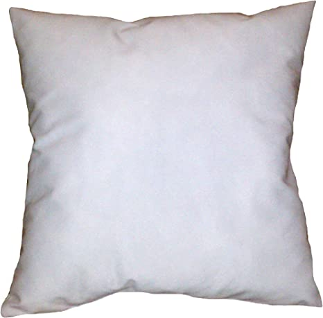 Reynosohomedecor 21x21 Inch Square White Cotton Blend Throw Pillow Insert Form Home Kitchen