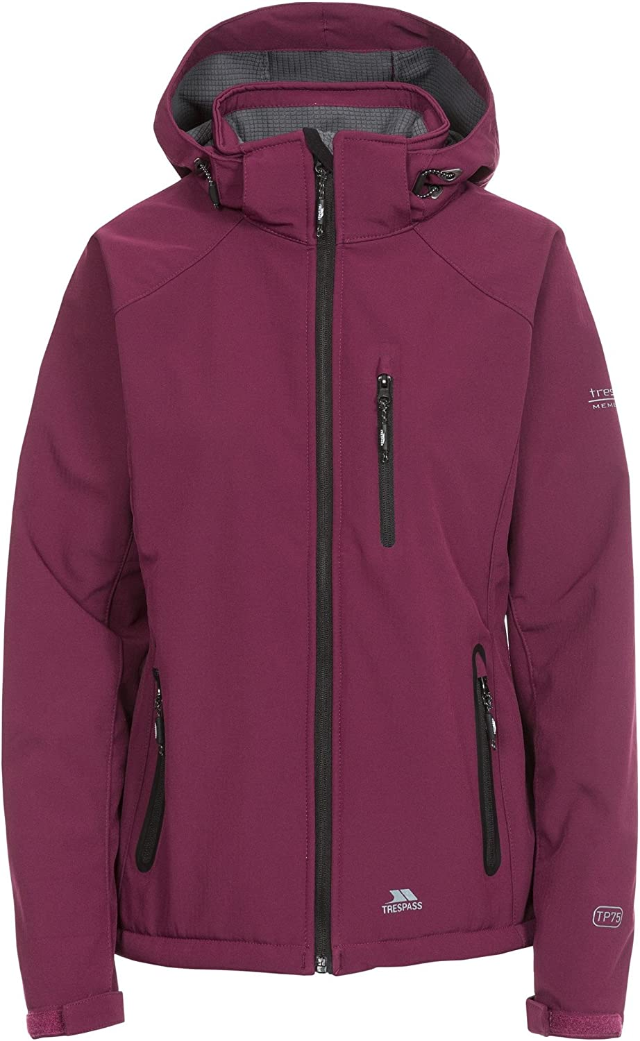 Mujer Trespass Bela II Waterproof Soft-Shell Chaqueta con Capucha extra/íble