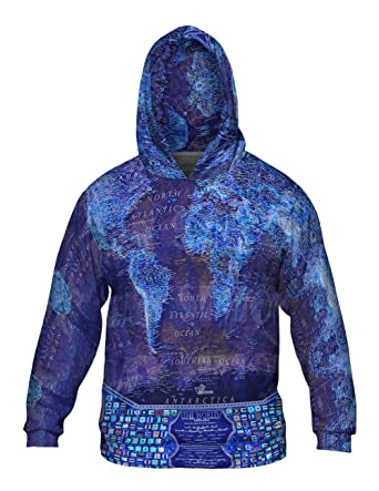 Amazon yizzam world map neon allover print mens hoodie yizzam world map neon allover print mens hoodie sweater 2x gumiabroncs Images