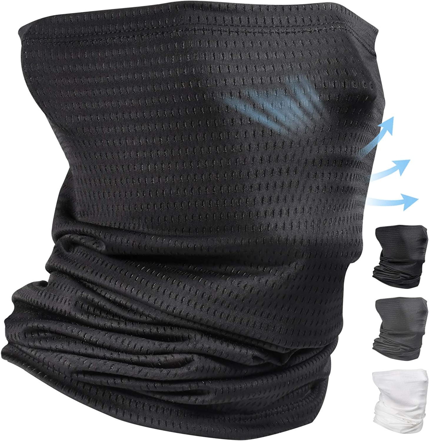 Cooling Neck Gaiter Face Mask Balaclava for Men Dust Running Face Cover Scarf