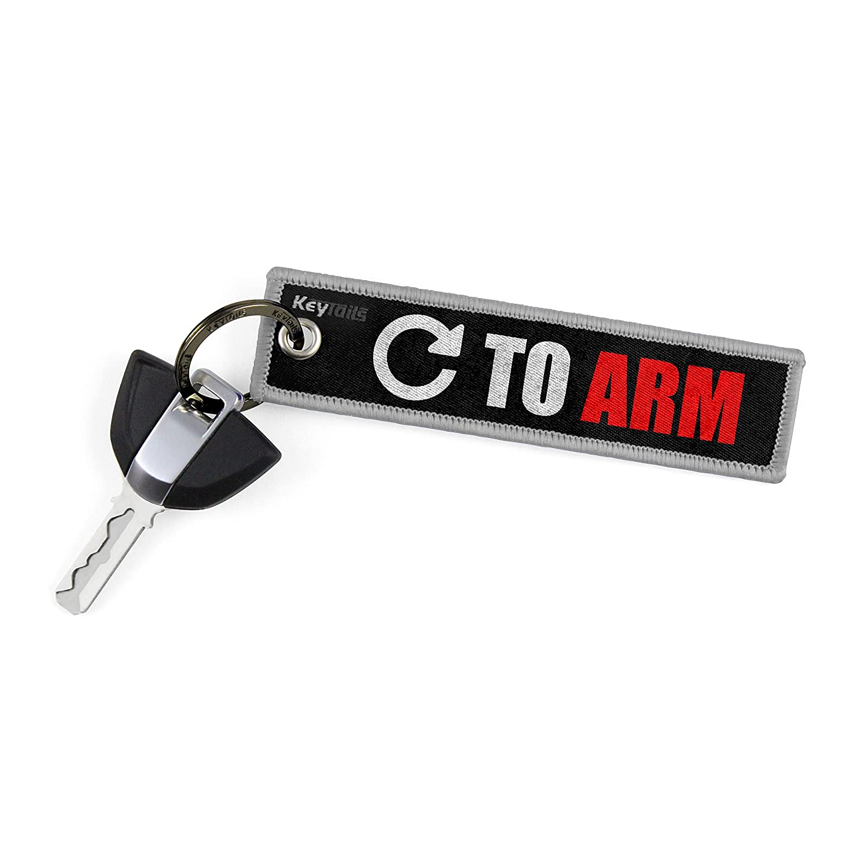 KEYTAILS Keychains UTV Scooter Premium Quality Key Tag for Motorcycle ATV Turn to Arm Car