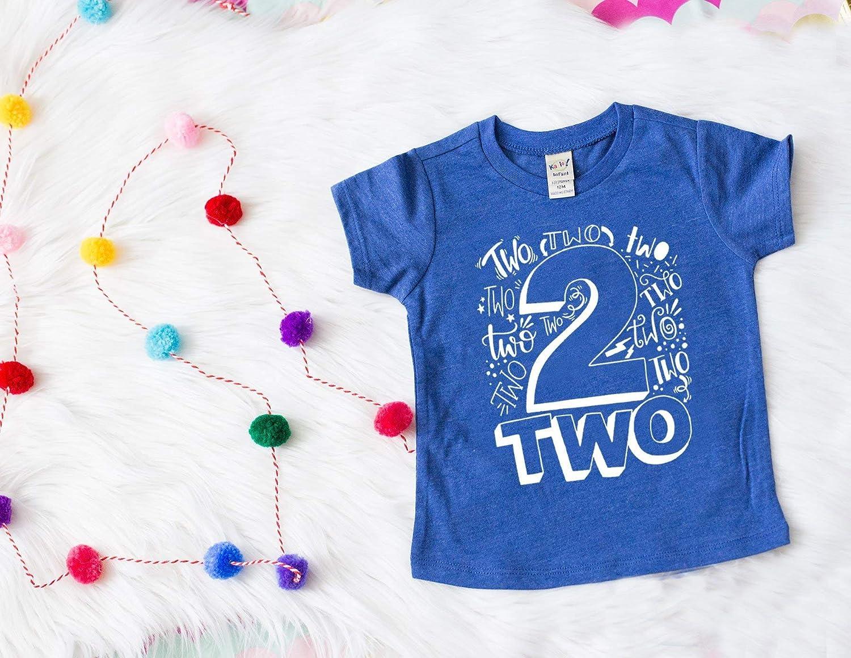Amazon Second Birthday Shirt Boy 2 Boys Your Choice Of Colors Handmade