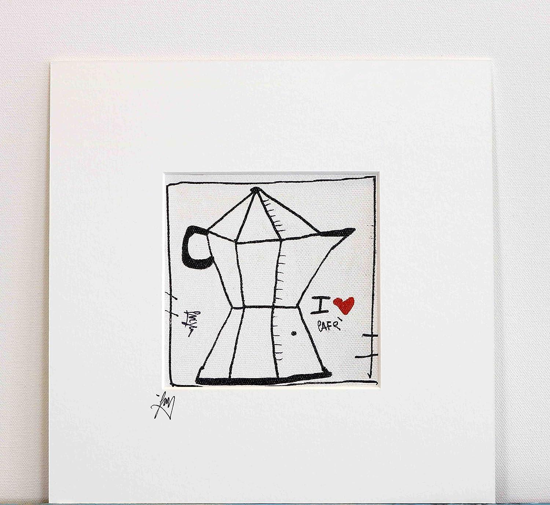 Acquisto Siviglia arte moderna Quadro Moderno, 12×12 cm su Tela, Stampa su Tela con retouche in Acrilico, Arredamento Bar caffettiera Prezzi offerta