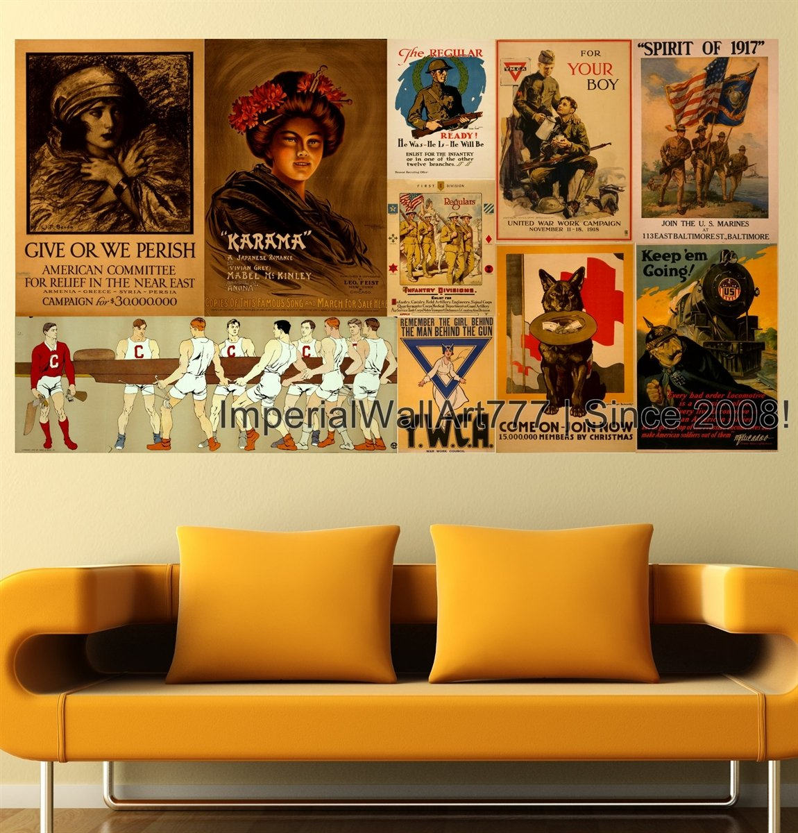 Amazon.com: ImperialWallArt777 Vintage Poster Photo Collage KARAMA ...