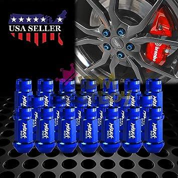20 unidades M12/x 1,5 Agarraderas para tuercas de coche de aleaci/ón de aluminio con pinchos de 60/mm Tuercas para llantas color azul
