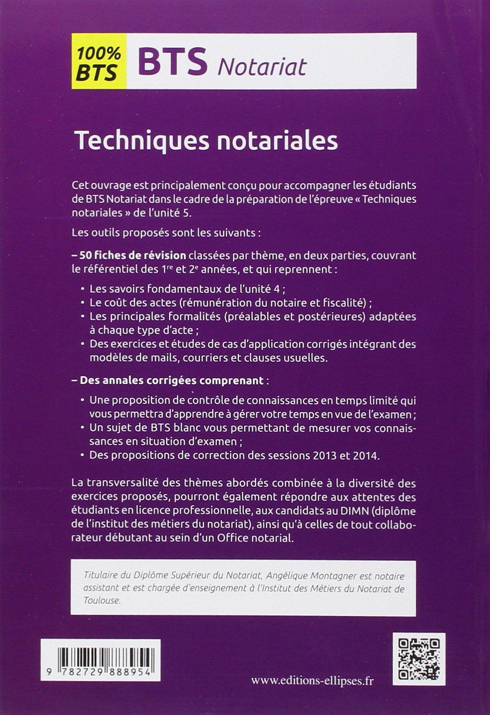 100% BTS Notariat Épreuve E5 Techniques Notariales: 9782729888954: Amazon.com: Books