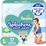 Pampers Splashers Disposable Swim Diapers Size L, 17 Count