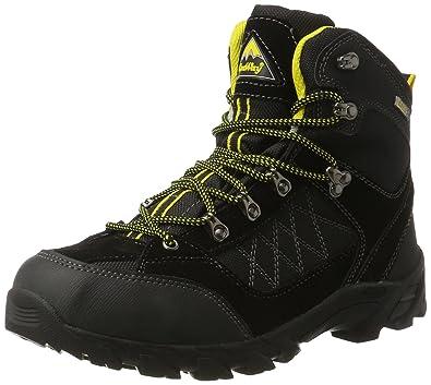 Conway 607417, Chaussures de Randonnée Hautes Homme, Noir (Schwarz/Gelb), 45 EU