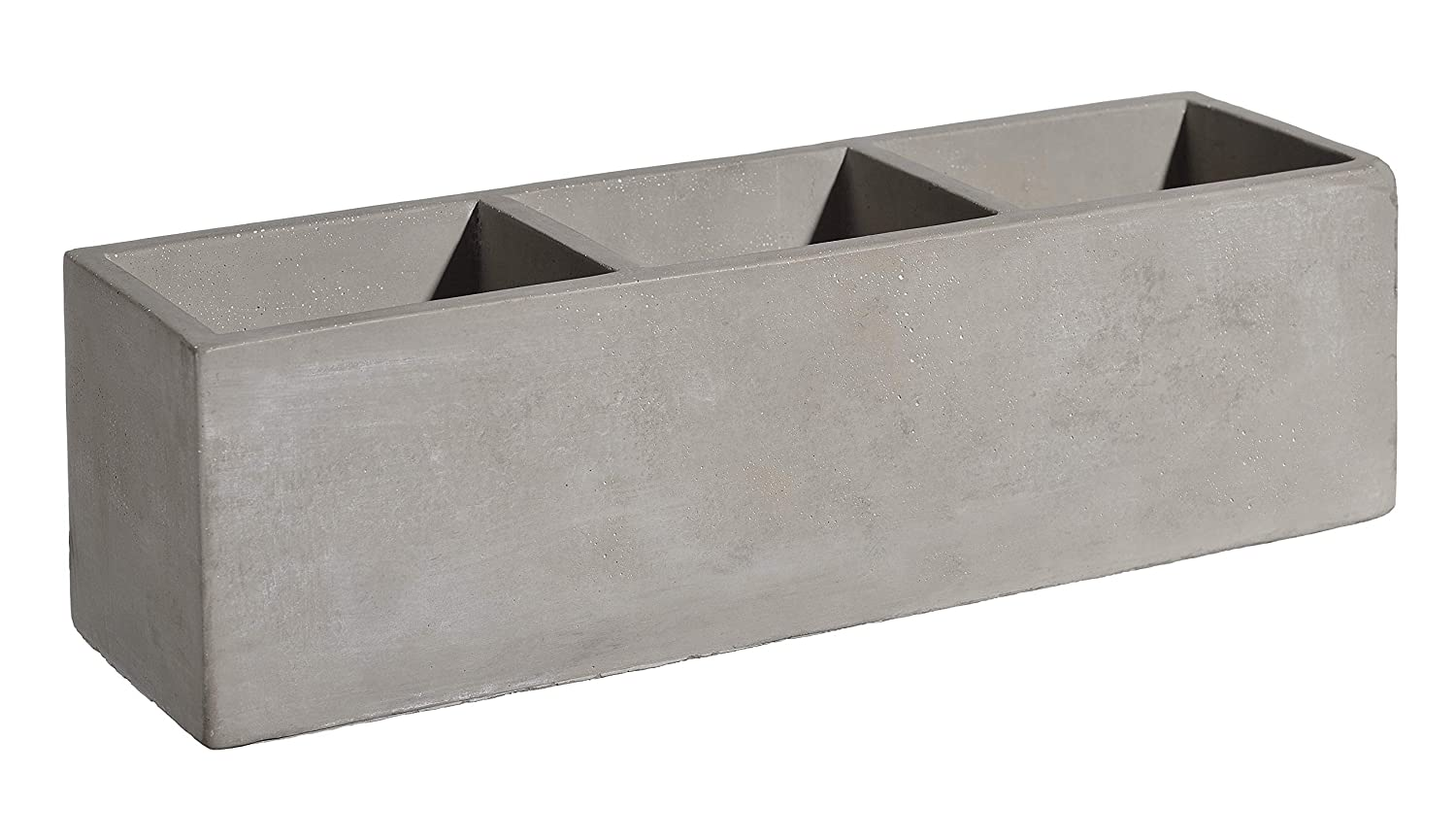 """Classic Home and Garden HD1147-102 Cement Square Trio Planter, 12"""" Set of 2, Natural"""