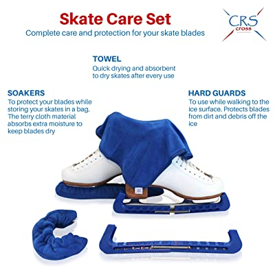 Blue White Red Available Pair of Ice Figure Hockey Skate Blade Guards Protector