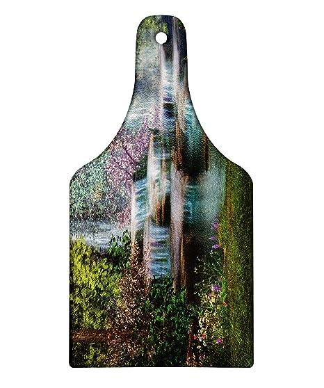 6371989bba705 Amazon.com: Lunarable Waterfall Cutting Board, Waterfalls Flowers ...