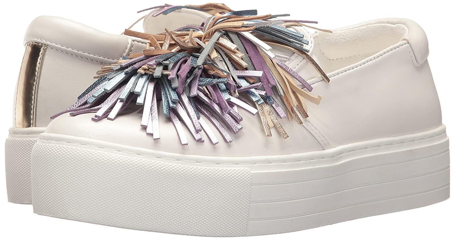 Kenneth Cole New York Women's Jayson Slip on Platform Pom US|White/Multi Sneaker B071QXBQ92 9 B(M) US|White/Multi Pom ecf1b2
