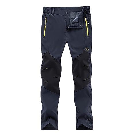 b28d446eaebfc Huntvp Men's Tactical Pants Outdoor Lightweight WR Hiking Mountain Pants,Gray  Large