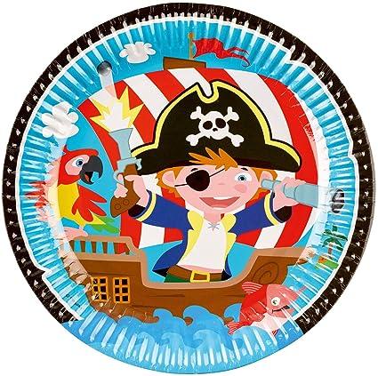 8 platos * Little Pirates * para cumpleaños infantiles y ...