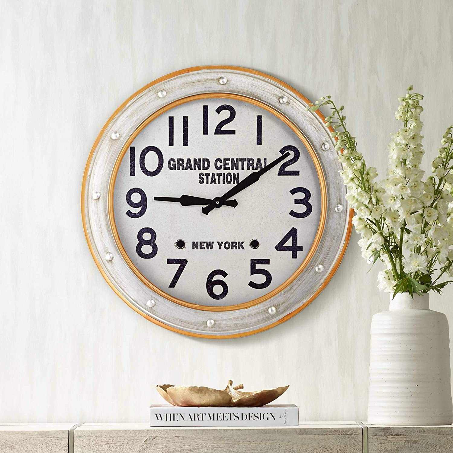 "River Parks Studio Grand Central Station 24"" Railroad Train Wall Clock"