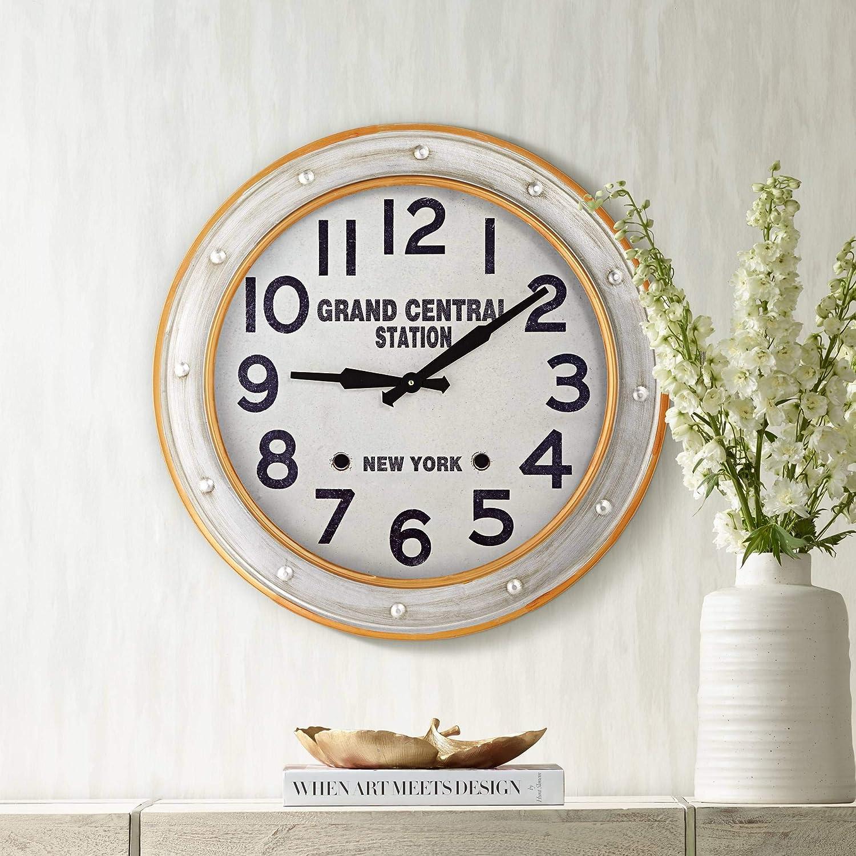 River Parks Studio Grand Central Station 24″ Railroad Train Wall Clock