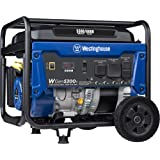 Westinghouse WGen5300v Portable Generator with 120/240 Volt Selector 5300 Rated 6600 Peak Watts Gas Powered, CARB…