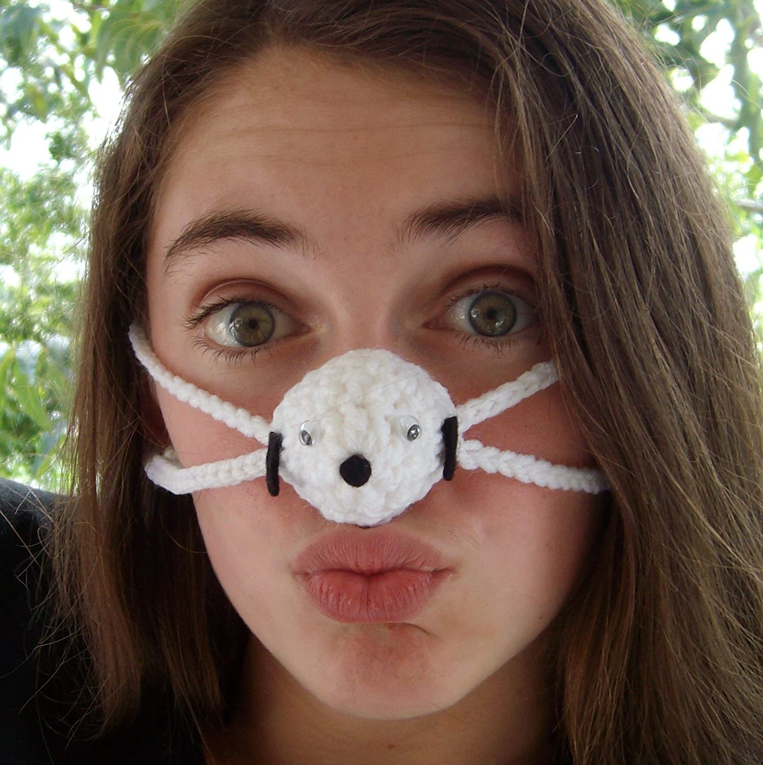 White Puppy Nose Warmer by Aunt Marty's Original Nose Warmers