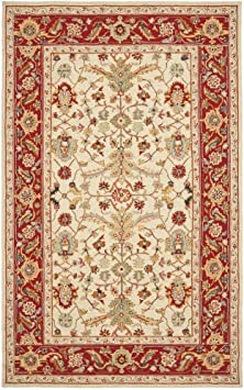 Amazon Com Safavieh Chelsea Collection Hk751c Hand Hooked French Country Wool Area Rug 8 9 X 11 9 Ivory Red Furniture Decor
