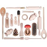 Treasure Basket Wooden Top-up Set - 21 items - EYFS Montessori Learning Resource Pretend Play