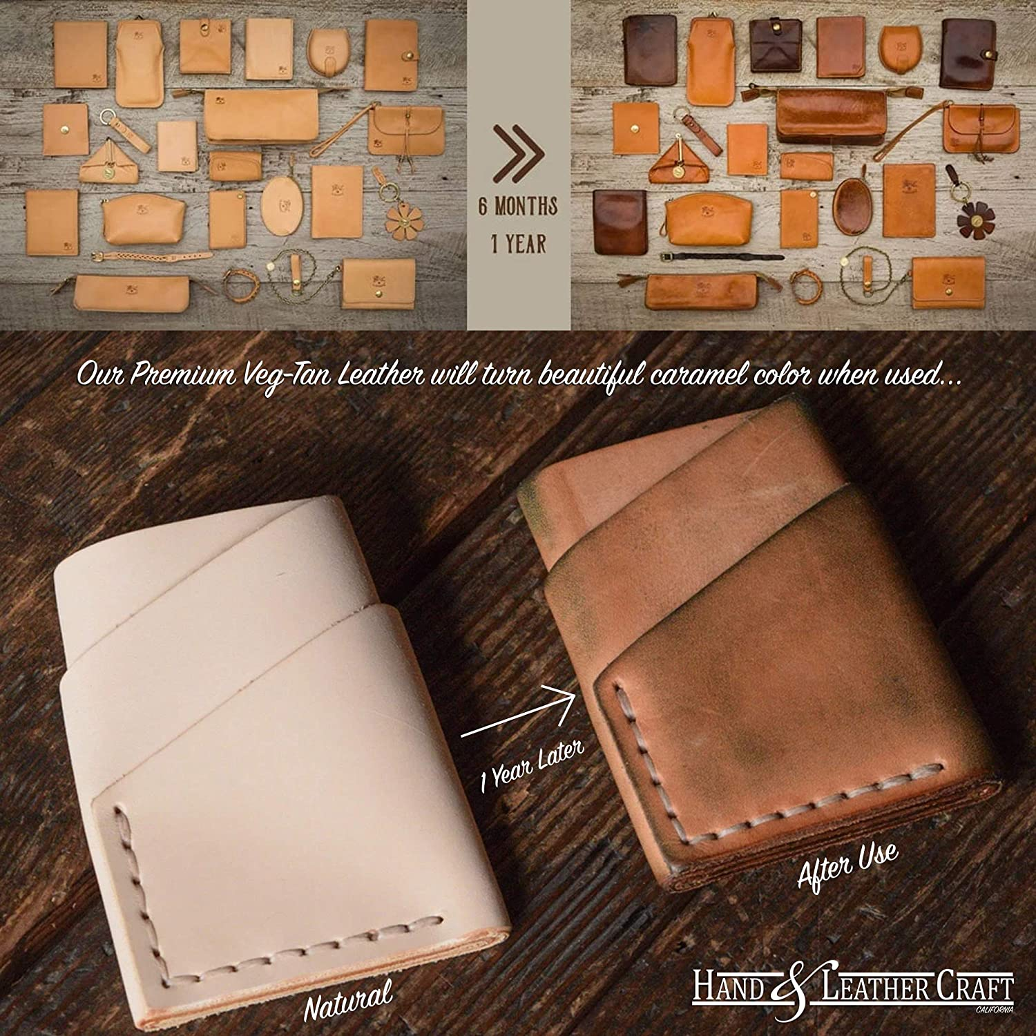 Veg Tan Leather 5//6 oz A Grade Tooling Leather Hide Molding Tooling Hand and Leather Craft 24x24 Dyeing 2.0-2.4mm Full Grain Vegetable Tanned Leather Carving 4 Sqft
