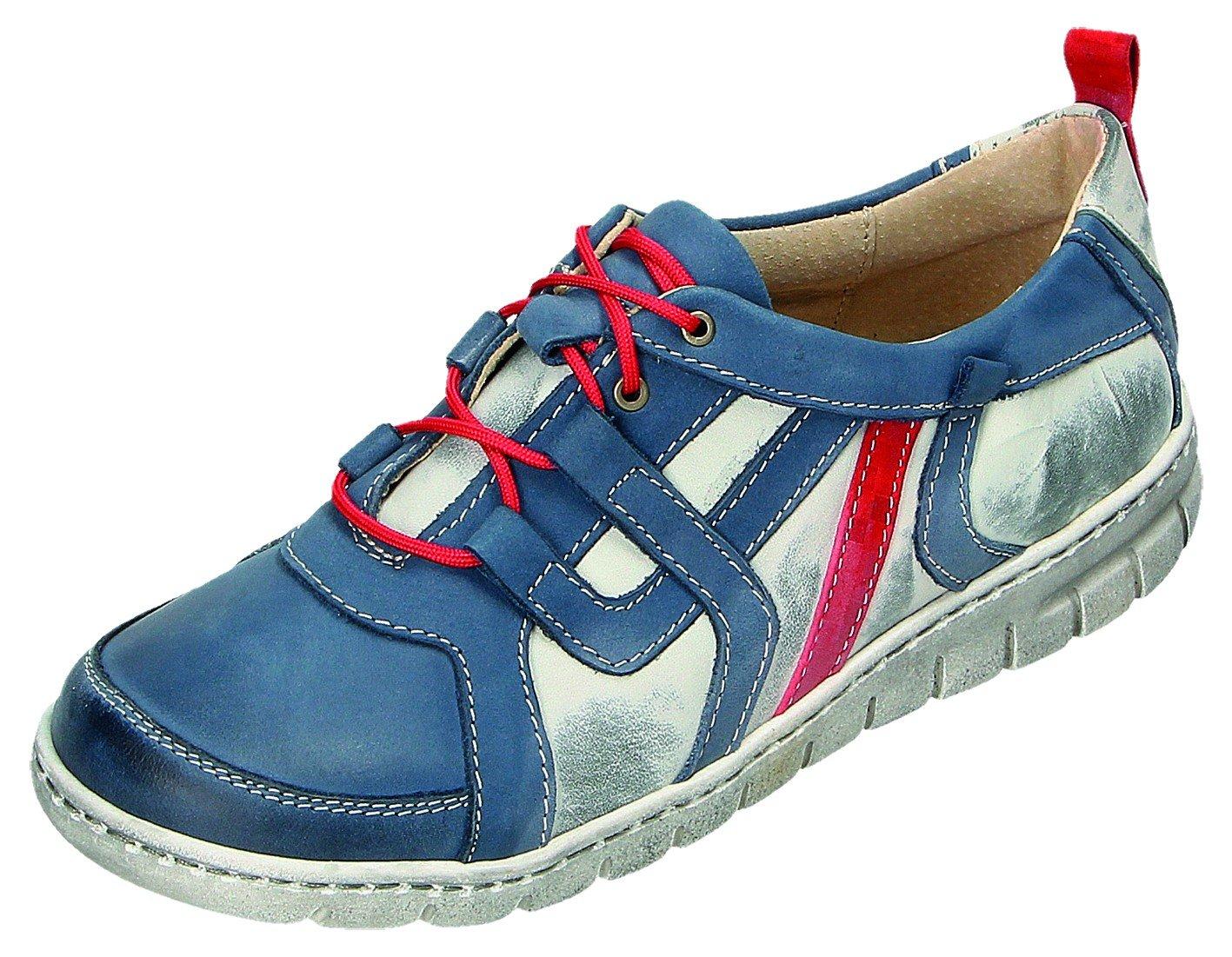 MICCOS Zapatos de Cordones Para Mujer Azul Blau/Komb. 38 EU|blau/komb.