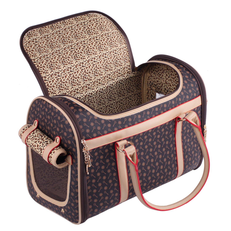 Pet Carrier Bag Pomeranian Pug Chihuahua Puppy Cat Yorkie Dog Discreet Travel...