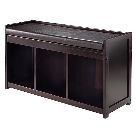 Amazon.com: Winsome Addison 2 pieza Banco de almacenamiento ...