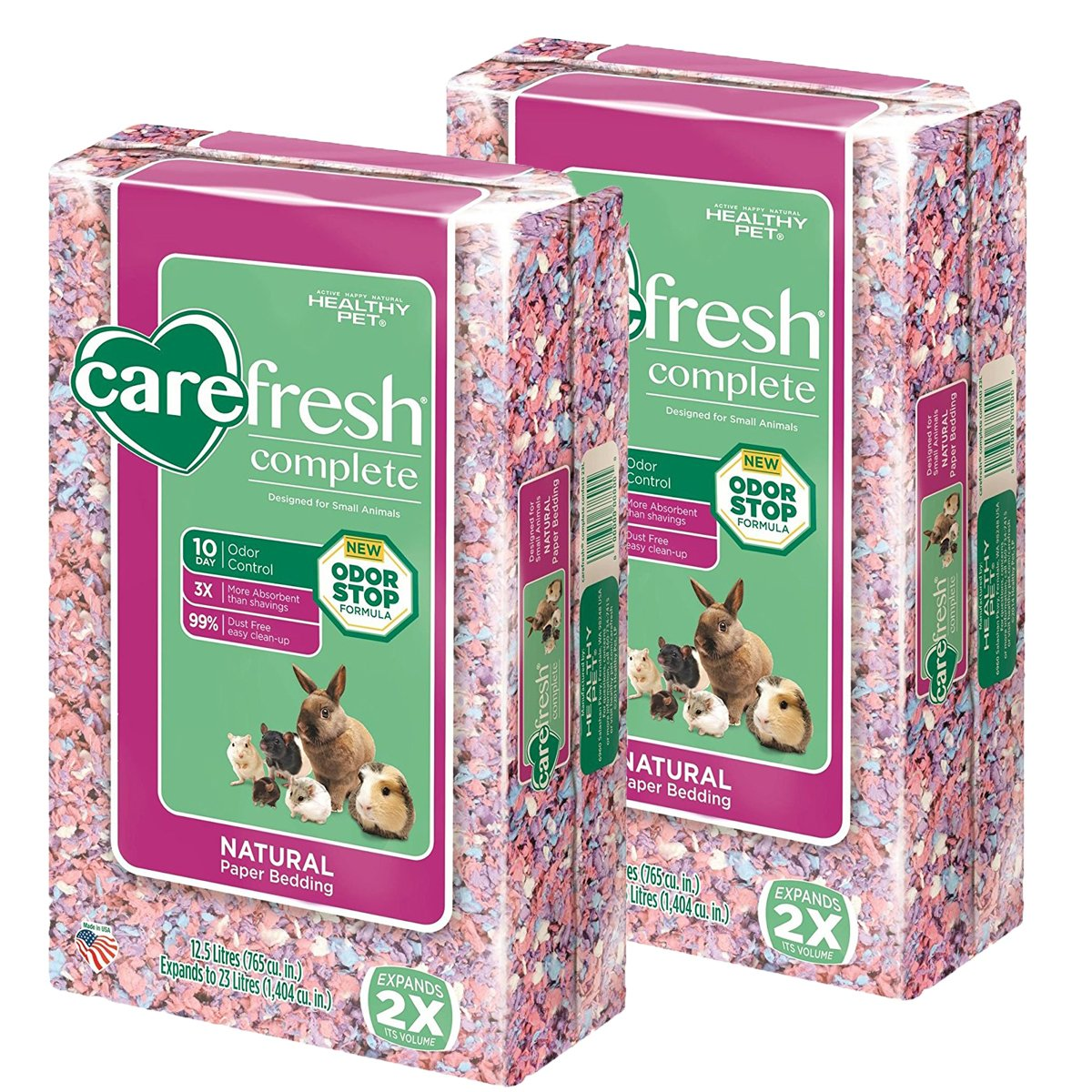 carefresh Complete Confetti Pet Bedding, 23 L (2-Pack) by Carefresh