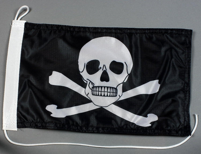 Buddel-Bini Bootsflagge Pirat 20 x 30 cm in Profiqualität Flagge Motorradflagge Buddel Bini