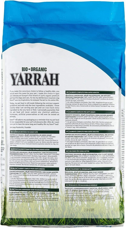 Yarrah Fish 10 kg alimento orgánico para Gatos, 1 Paquete (1 x 10 ...
