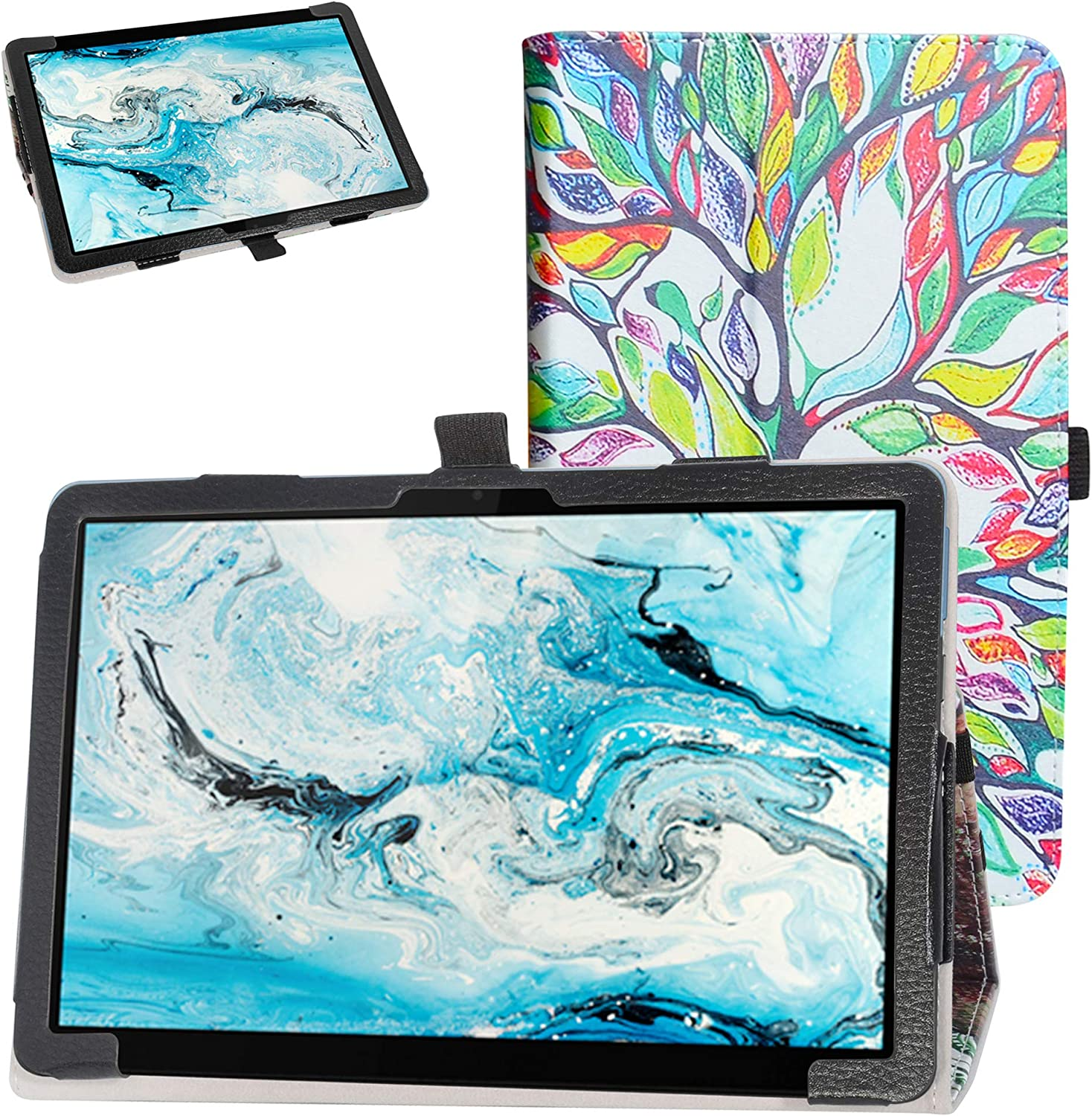 Bige for Lenovo Chromebook Duet Case,PU Leather Folio 2-Folding Stand Cover for 10.1