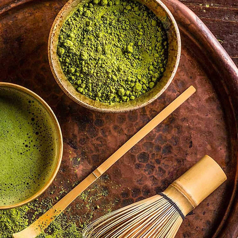 Tiamu Set di Matcha in Ceramica Frusta di bamb/ù Matcha frusta matcha 1 1 Matcha Giapponese con 1 cucchiaio di bamb/ù 1 cucchiaino
