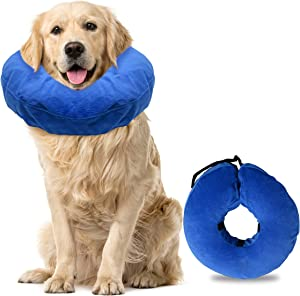 Laboratory 29 Inflatable Dog Collar, Dog Surgery Recovery Collar Soft Cone for Dogs and Cats Washable Bite and Scratch Resistant