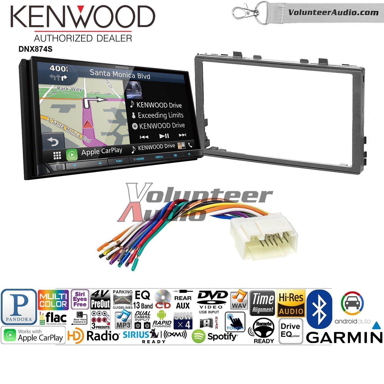 ボランティアオーディオKenwood dnx874sダブルDINラジオインストールキットwith GPSナビゲーションApple CarPlay Android自動Fits 2006 – 2011ホンダシビック B07BYXRLL4