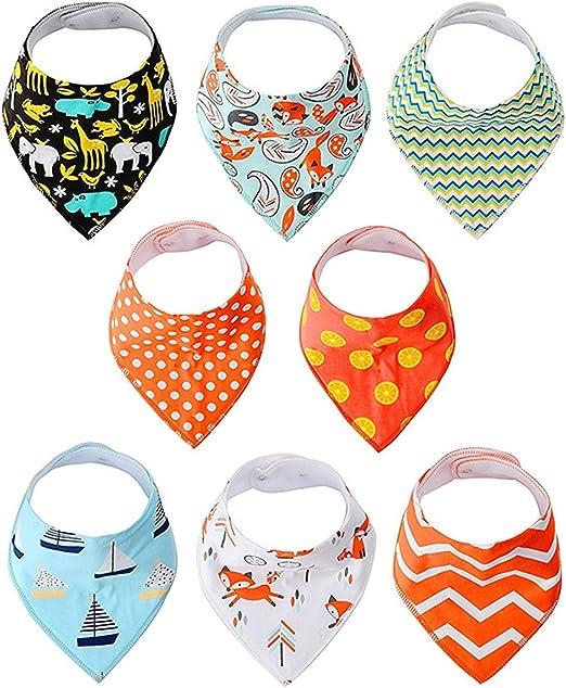 Baberos bandana/Bebé(niño y niña). iNeibo Babero 100% algodón, Triangular, Moderno, Unisexo. Perfecto Bandana Baberos para dentición, saliva: Amazon.es: Bebé