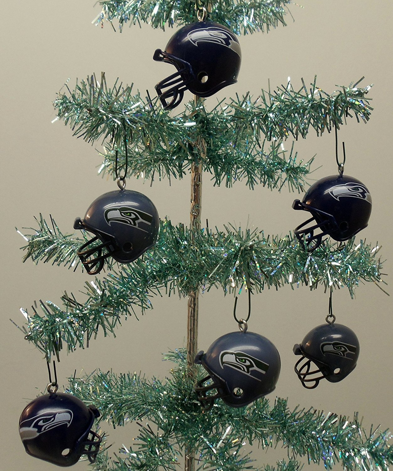 Amazon.com: Seattle Seahawks Set of 12 Holiday Christmas Tree ...