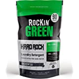 Rockin' Green Natural Laundry Detergent Powder | Hard Rock (for Hard Water), Unscented | HE, 90 Loads - 45oz Perfect for Clot