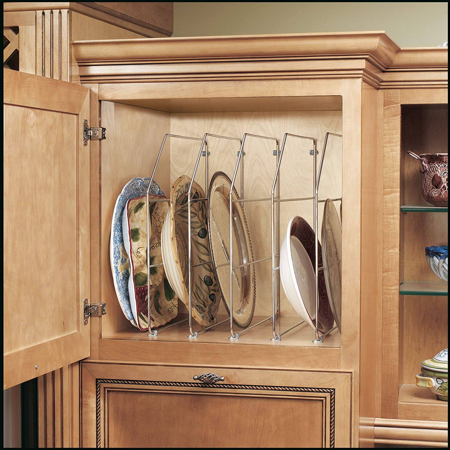 Kitchen Dining Chrome Bakeware And Tray Divider 5 Units 597 18cr 52 Single 18 In Rev A Shelf Storage Organization