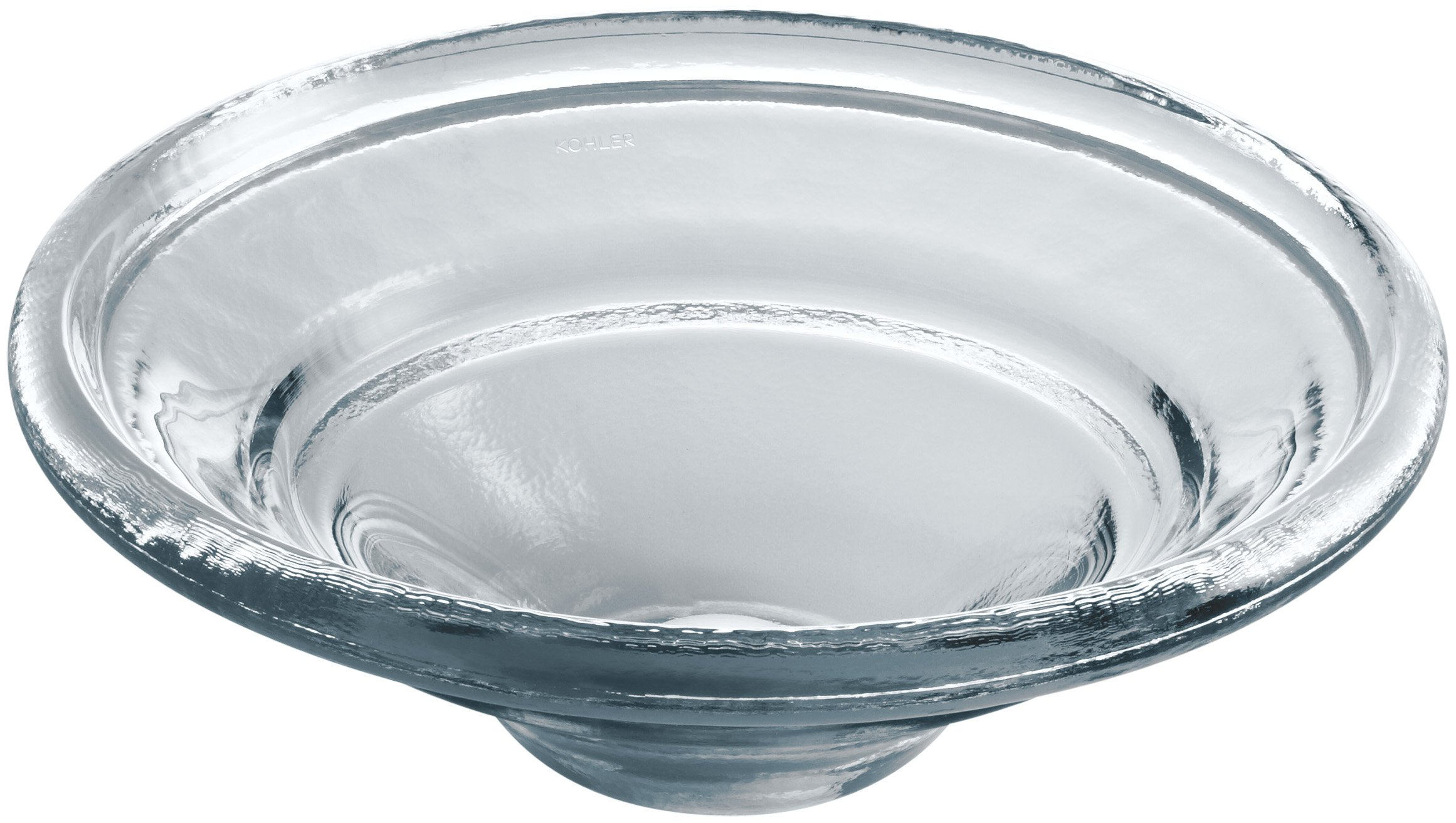 KOHLER K-2276-TG1 Spun Glass Vessel Drop-In, Above-Counter or Wall-Mount Bathroom Sink, Translucent Dusk by Kohler