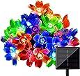 LightsEtc 15.7 Feet 20 LED Multi Color Solar Blossom String Lights for Garden, Holiday Decoration