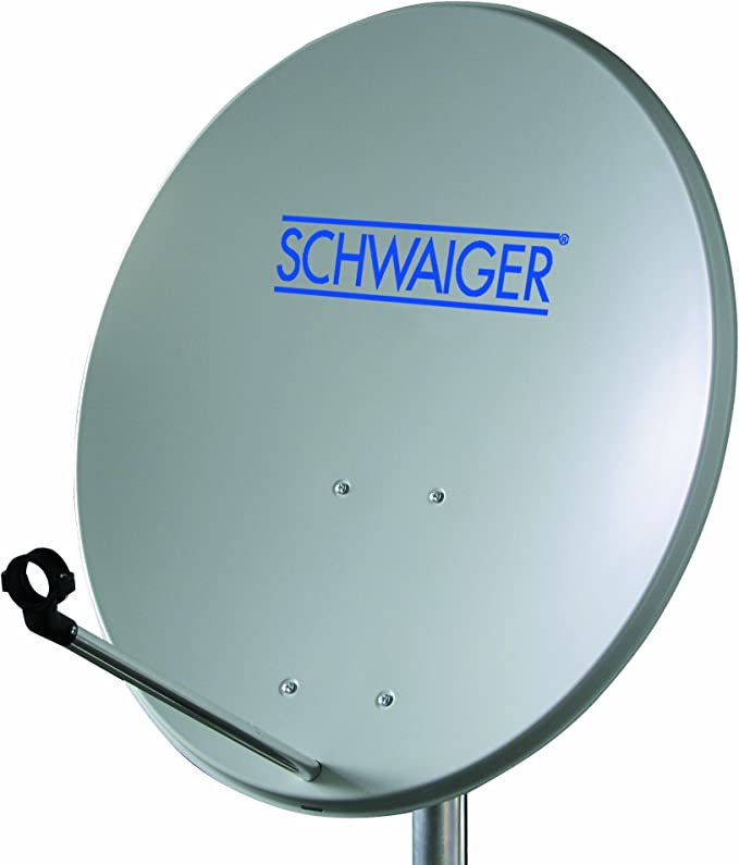 Schwaiger SPI994011 - Antena parabólica (80 cm) con LNB Quattro, acero