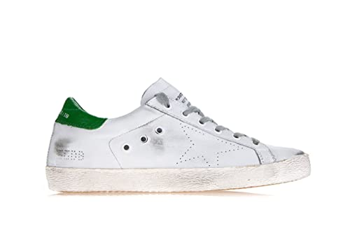 3c5290129b1eb Golden Goose Scarpe Donna  Superstar  Vintage Effect Leather Sneakers-39 Donna  Bianco