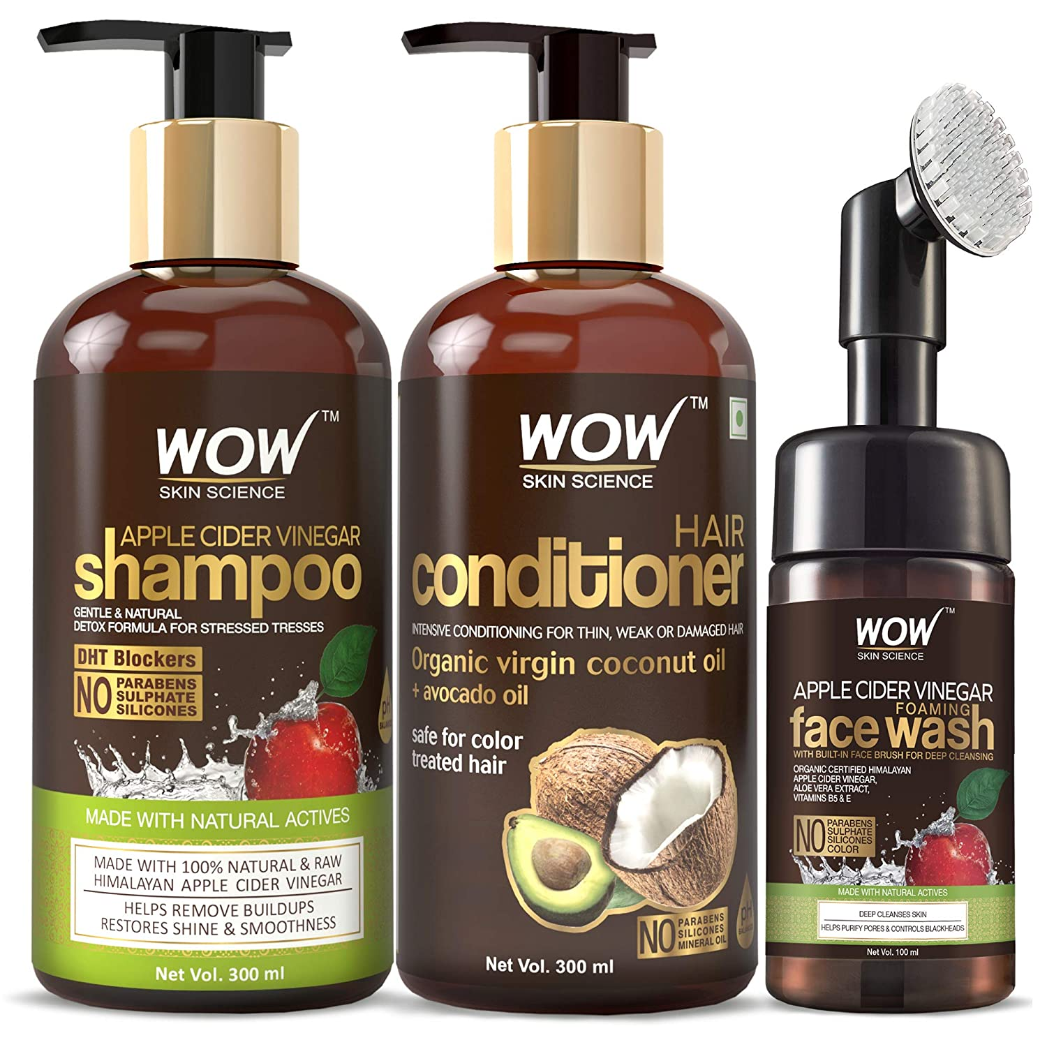 Buy WOW Skin Science Apple Cider Vinegar Shampoo with WOW Skin ...