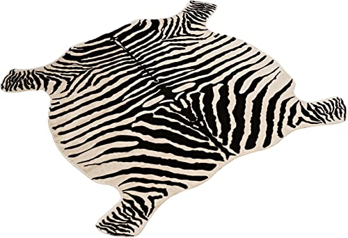 Area Rug Faux Zebra Print Rug 4×4.6 Feet Rug/Mat/Carpet